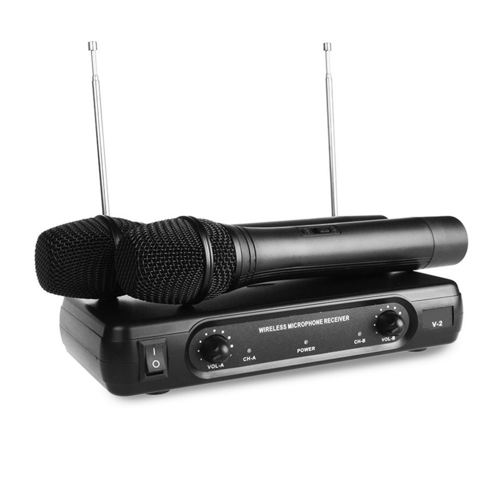 buy professional wireless microphone with receiver home karaoke microphone dual. Black Bedroom Furniture Sets. Home Design Ideas