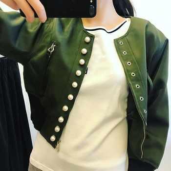 TWOTWINSTYLE Punk Style Jacket Tops Female Eyelet Pearl Long Sleeve Coat Women Casual Clothes Big Size 2019 Autumn Fashion