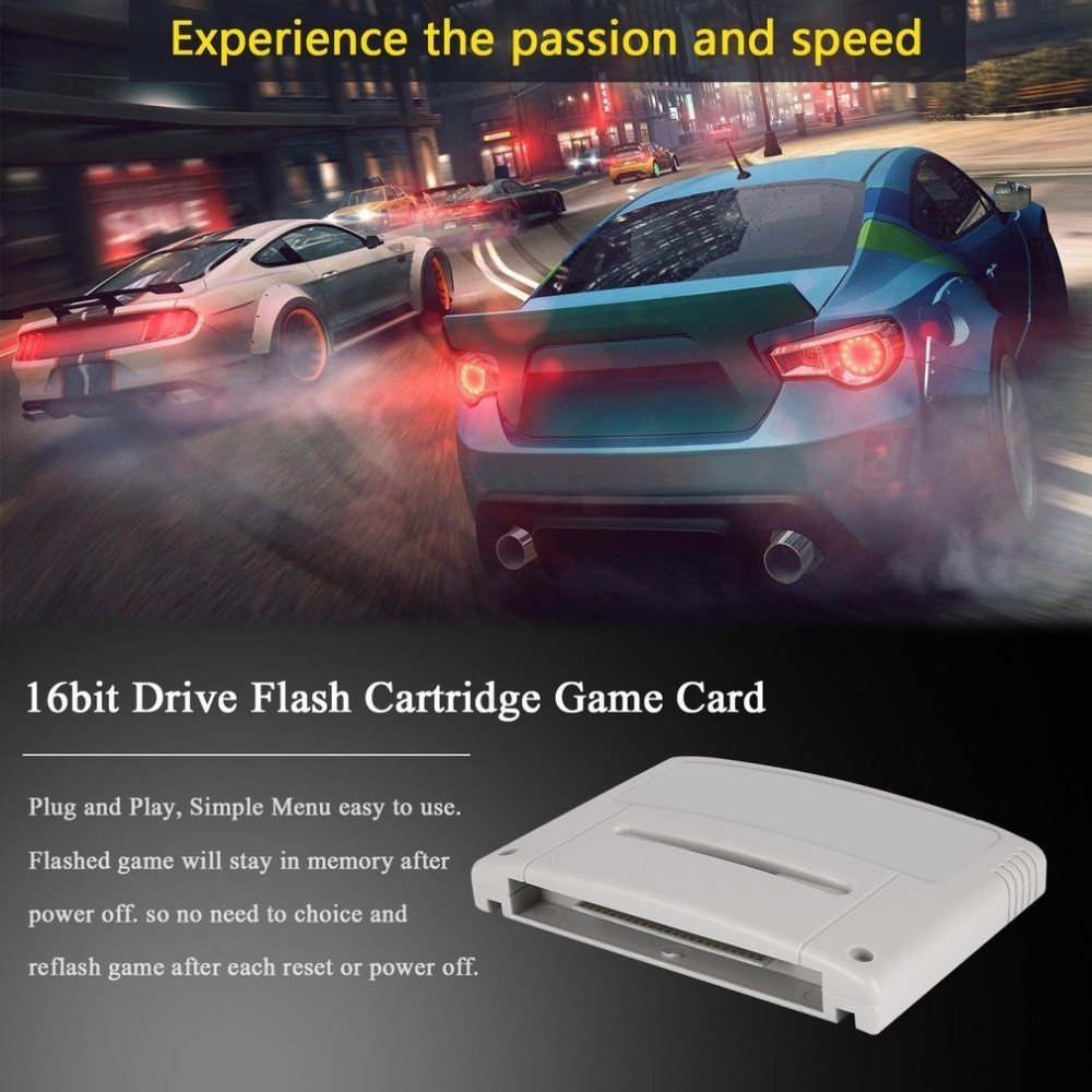 16 bit Super Ever Flash Game Drive Flash SNES Cartridge Video Game Console Game Flash Card Plug & Play for Nintendo SFC SNES цена