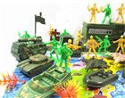 38Pcs Plastic Model Playset Toy Soldiers Army Men Accessories Army Sand Scene Model Sand Table Accs 5cm Action Figures Soldiers