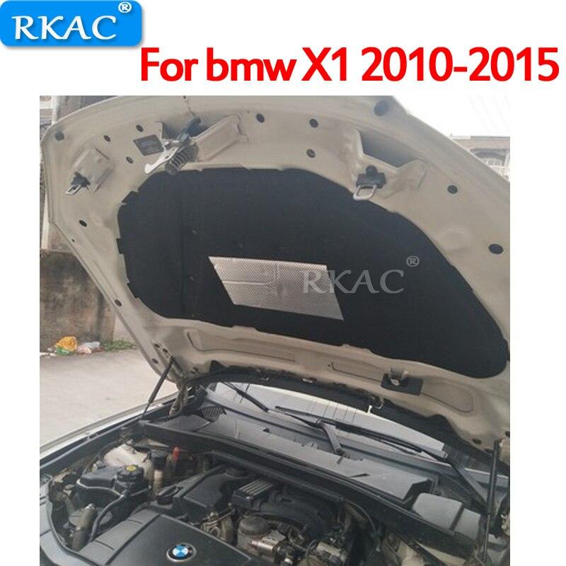 RKAC 1 pièces pour bmw X1 2010-2015 capot de voiture isolation phonique et thermique tapis en coton tapis résistant à l'ire accessoires de garniture de couverture