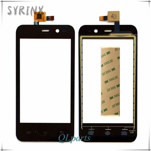 Syrinx 3M Tape High Quality Touchscreen Panel For ZTE Blade Leo Q1 Touch Screen Digitizer Sensor Front Glass Lens Free Shipping