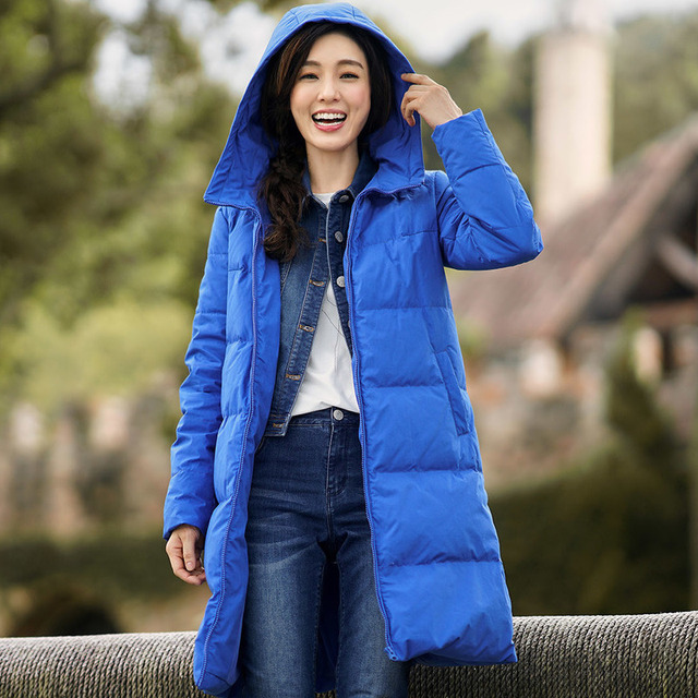 Leisure Hooded Down Long Jackets