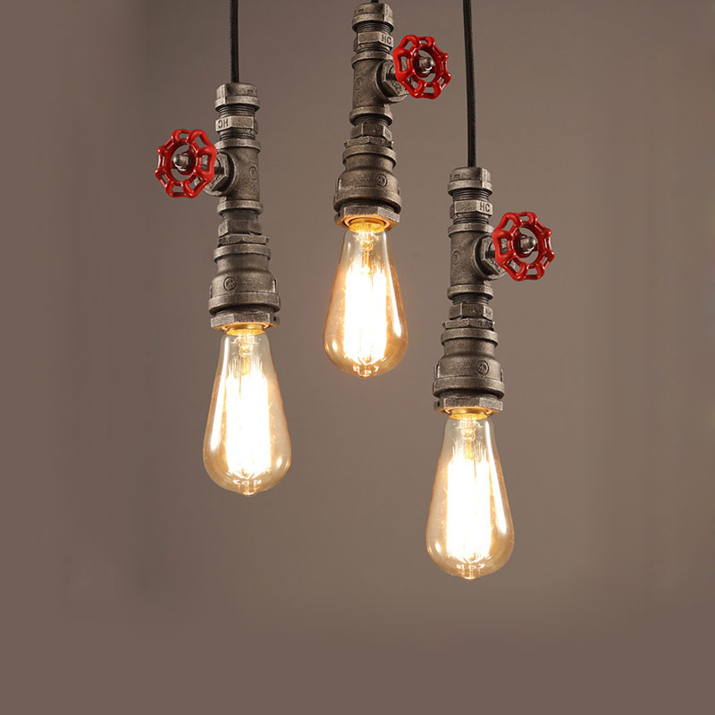 Industry wind loft pendant lamps E27  water pipe retro lamps dining room kitchen bar pub club cafe restaurant chandelierIndustry wind loft pendant lamps E27  water pipe retro lamps dining room kitchen bar pub club cafe restaurant chandelier