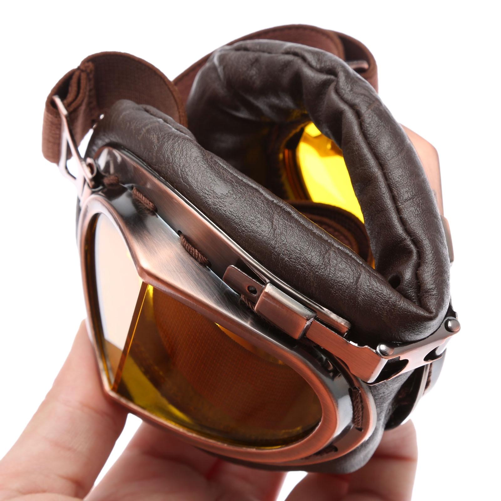 Motocicleta Gafas Gafas Vintage Motocross Gafas Clásicas Retro - Accesorios y repuestos para motocicletas - foto 6