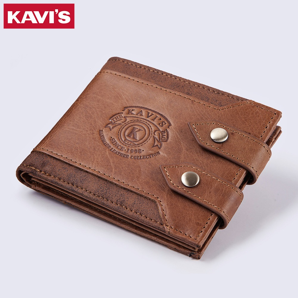 KAVIS Design High Quality Genuine Leather Men Wallet Coin Purse Mens Small Walet Portomo ...