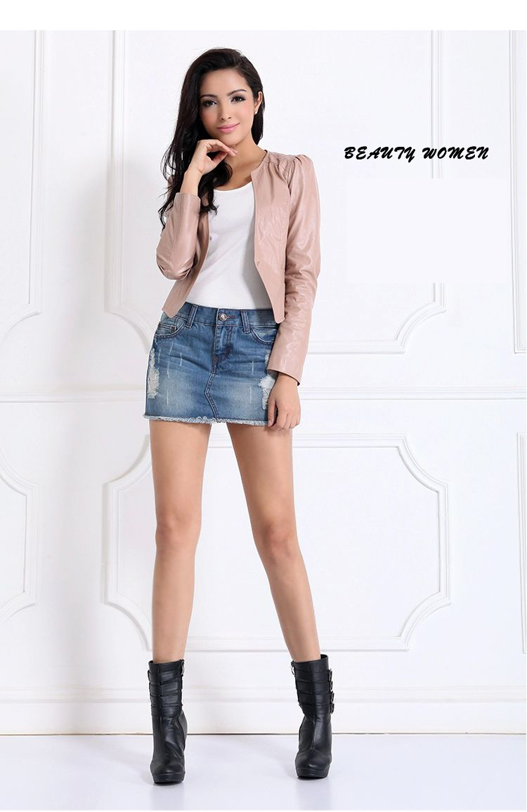 blue jeans mini skirt fashion-in Skirts from Women's Clothing ...