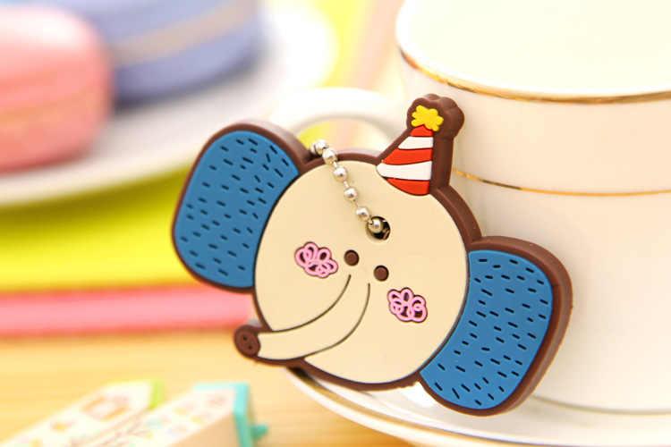 Tamanho grande Coruja Dos Desenhos Animados Anime Silicone Bonito Olá Kitty & Assecla Tampa Cap Moda Cadeia Chaveiro Chave Anel Titular Natal presentes