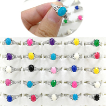 10pcs Fashion Women Girl Wholesale Lots Bulk Jewelry Mixed Colorful Charm Resin Finger Rings