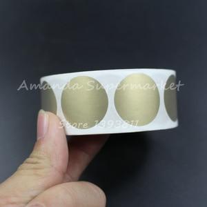 "Image 2 - לגרד את מדבקה באיכות גבוהה 1000 יחידות 25*25 מ""מ 1 ""צבע זהב עגול ריק עבור קוד סודי כיסוי משחק בית חתונה"