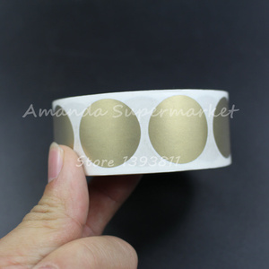 """Image 2 - High Quality Scratch Off Sticker 1000Pcs 25*25mm 1"""" Round Gold Color Blank For Secret Code Cover Home Game Wedding"""