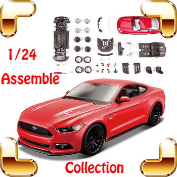 New Year Gift 2015 GT 1/24 DIY Metal Model Sports Car Model Scale Assembly Toys Game Simulation Collectible Toy Cars