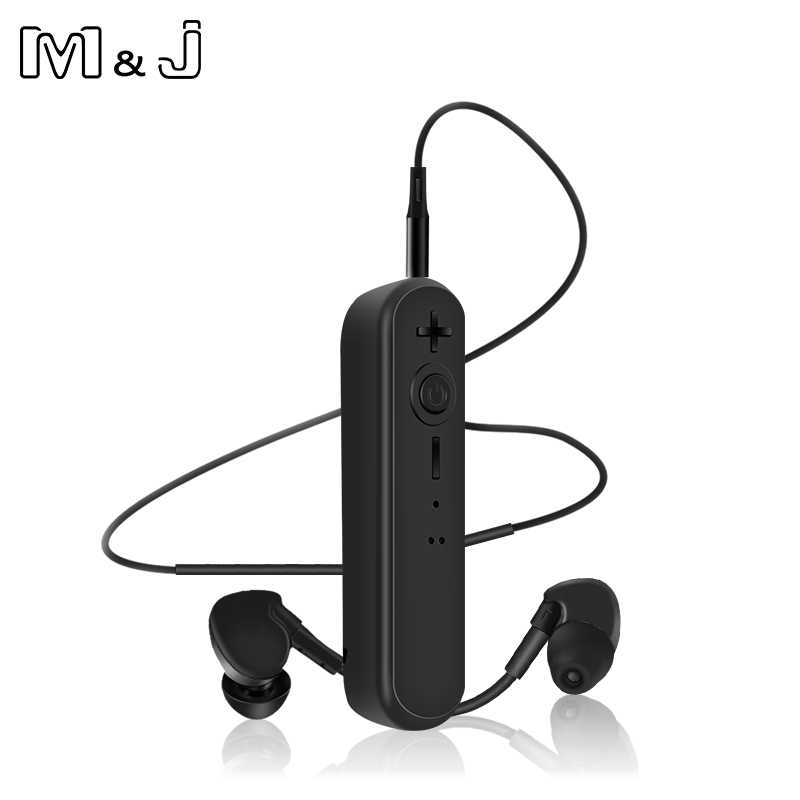 M&J F03 3.5mm Bluetooth Earphone Receiver Kit Handsfree Audio Music AUX Car Bluetooth Headphone Wireless With Microphone