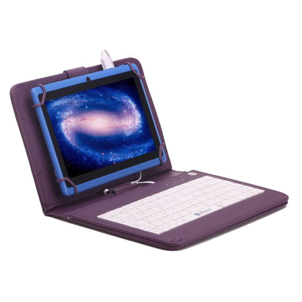 7 Inch Tablet Keyboard Case Purple English