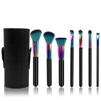 FOLUREE Wood Handle Makup Brushes Set Professional New 7pcs Colorful Unicorn Make Up Brush Cosmetic Tool