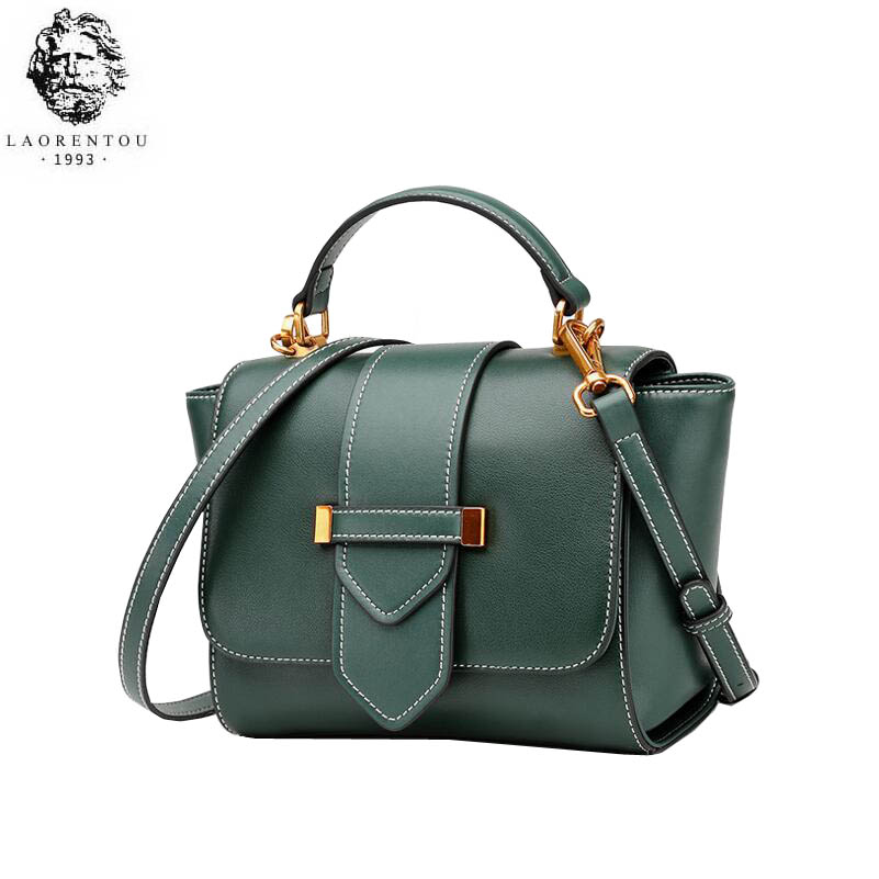 LAORENTOU high quality fashion luxury brand 2019 new female cowhide shoulder slung wing bag simple personality handbagLAORENTOU high quality fashion luxury brand 2019 new female cowhide shoulder slung wing bag simple personality handbag