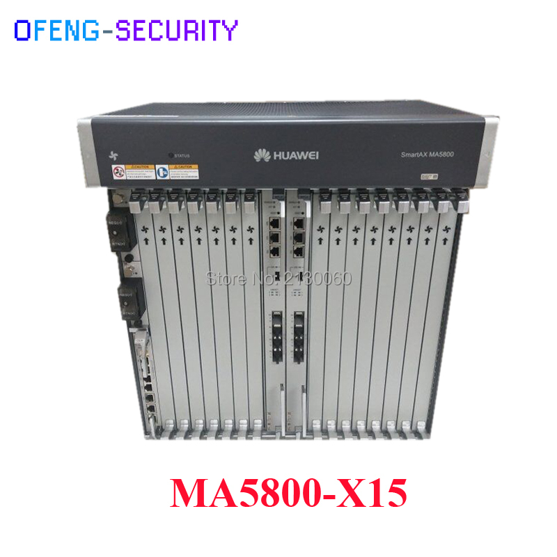 Hua Wei MA5800-X15 OLT With 16 Pots GPHF C+ Board Optical Line Terminal 19 Inch  With 2* MPLA Control And 2*PILA DC Power