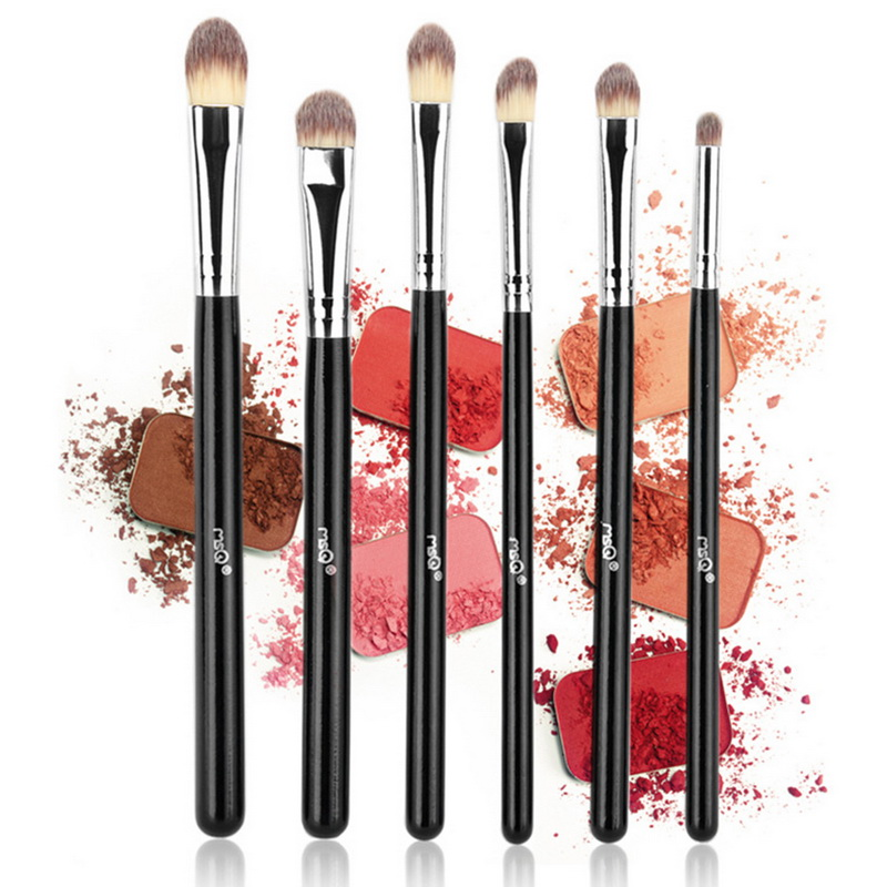 MSQ 6PC Soft Synthetic Hair Makeup Brushes Make Up Tools Professional Eyes Lip Eyeshadow Brushes Makeup Brush Set 2018 Beauty msq 15pcs professional makeup brushes set foundation fiber goat hair make up brush kit with pu leather case makeup beauty tool