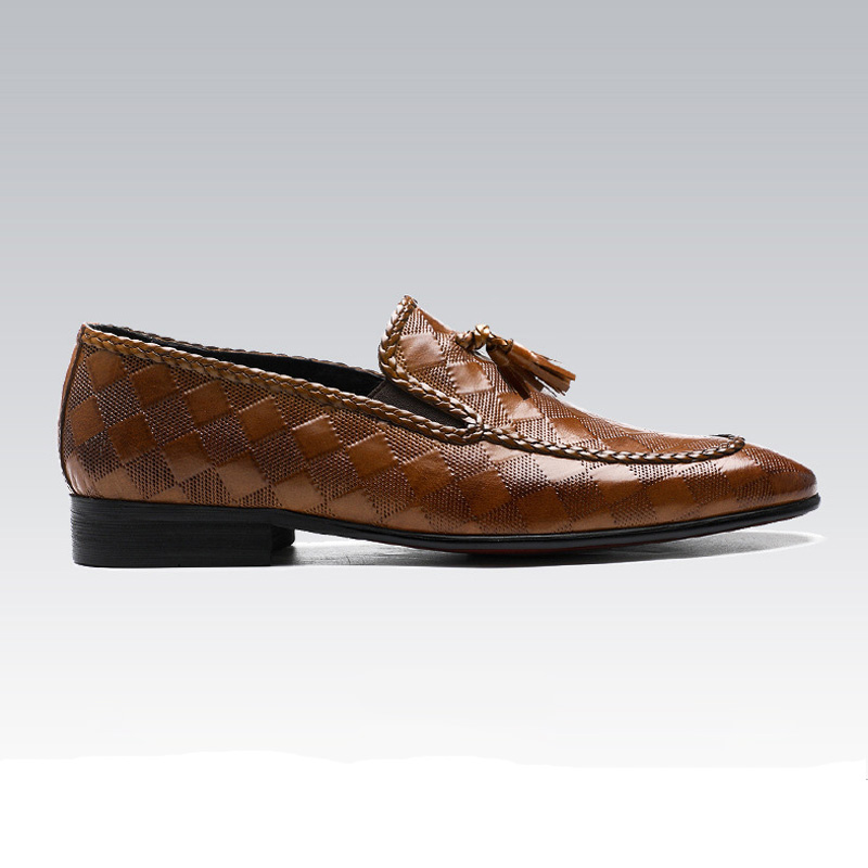 Estilo Britânico Couro Dos Vestem Sapatas Oxfords Alta Casamento 2019 Homens Black Sapatos Moda Negócios De Genuíno brown Qualidade Deslizamento Em Se 5qOxww4E0