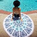 150cm Throw Microfiber Summer Sport Bath Towels Round Sand Beach Towel Women Swimming Sunbath Tassel Dress baby blanket 2 style