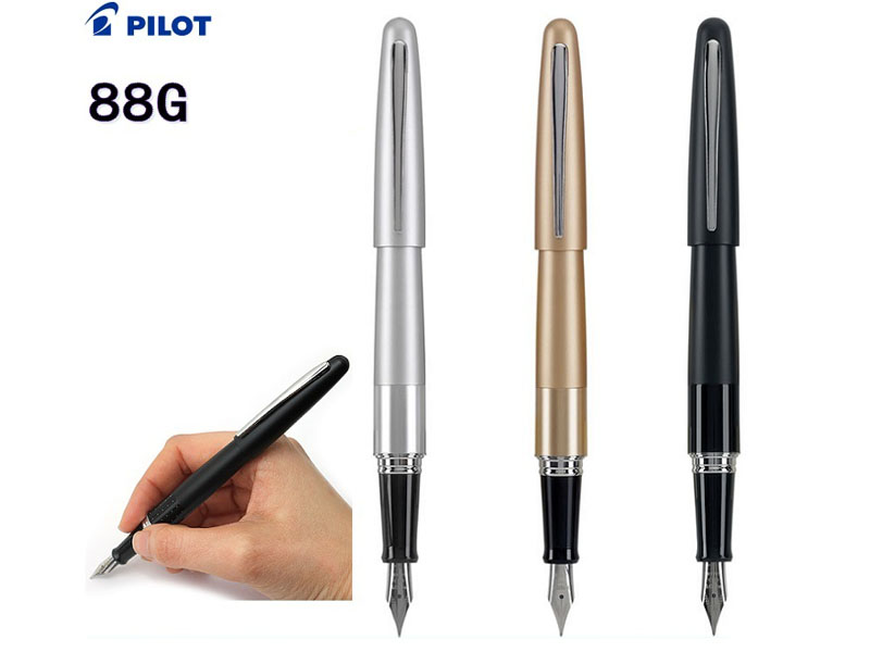 Fountain pen  M  Nib Original JAPAN PILOT 88G  office and school stationery 2016 New the best gifts Free Shipping italic nib art fountain pen arabic calligraphy black pen line width 1 1mm to 3 0mm