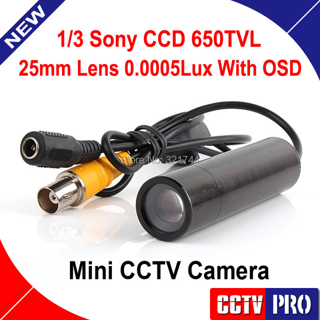 Mini Bullet Security Camera Sony CCD RJ10 DSP 650TVL 3D-DNR Starlight 0.0005 Lux OSD Menu For 960H DVR