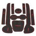 9 pçs/set Car Anti Slip Mat Porta Copo Almofada de Silicone Antiderrapante Mat Para Vw Volkswagen Polo Carro Fixo Interior acessórios