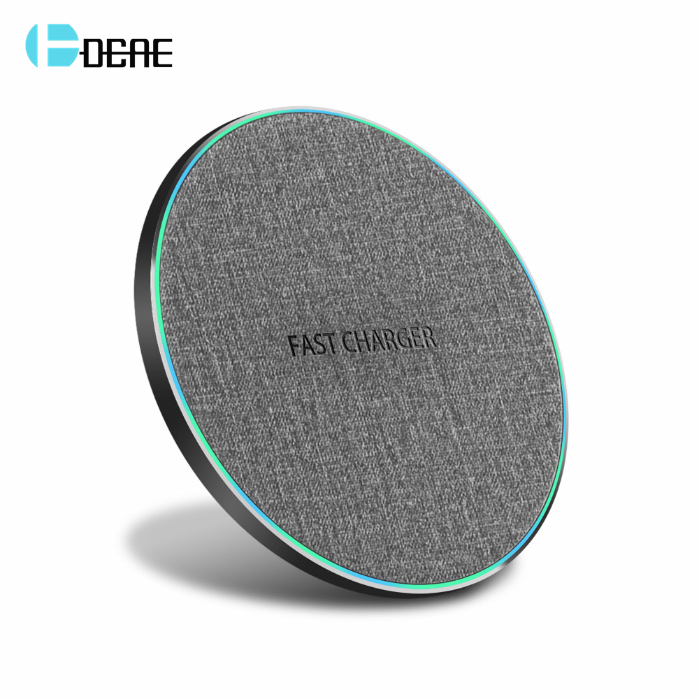 DCAE 15W Quick Charge Qi Wireless Charger For iPhone XS XR X 8 Samsung S10 S9 Xiaomi Mi 9 Huawei P30 Pro 10W Fast Charging Pad