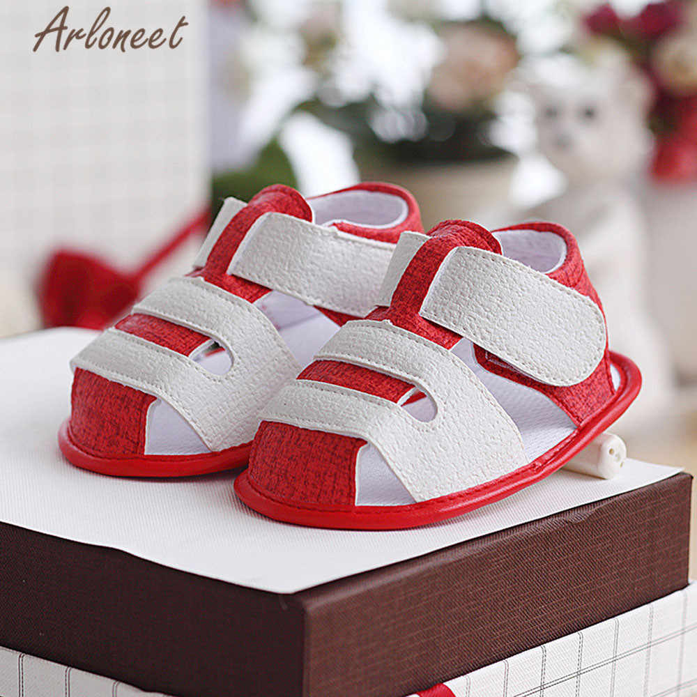 Arloneet 2018 sapatos de bebê recém-nascidos primeiros caminhantes dos desenhos animados sapatos berço bebe meninas meninos princesa ballet sola anti-derrapante calçados