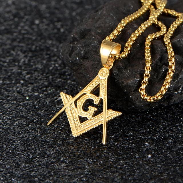 Hip hop gold pendant men titanium stainless steel masonic free mason hip hop gold pendant men titanium stainless steel masonic free mason cz stone necklaces pendants aloadofball Image collections
