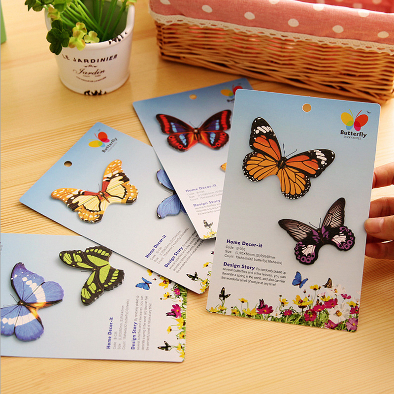 5pack 18*11.5Simulation Butterfly Convenience Stickers Students Notes Idea N Times Posted Decoration Readily Posted Message