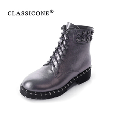CLASSICONE silver ankle boots