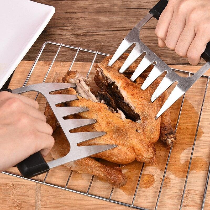 Черная пластиковая ручка ПП из нержавеющей стали медвежьи коготь слеза мяса протектор Многофункциональный приготовленный барбекю сепаратор для мяса Инструменты для барбекю