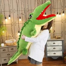 75-130cm Stuffed Animal Real Life Alligator Plush Toy Simulation Crocodile Dolls Kawaii Ceative Pillow for Children Xtmas Gifts