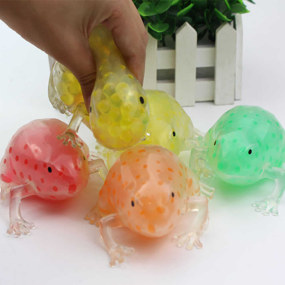 Funny Novelty 5cm Cute Frog Office Stress Relief Toys for Adults Squishy Squeeze Soft Antistress Gadgets Toys Squeeze the Frog