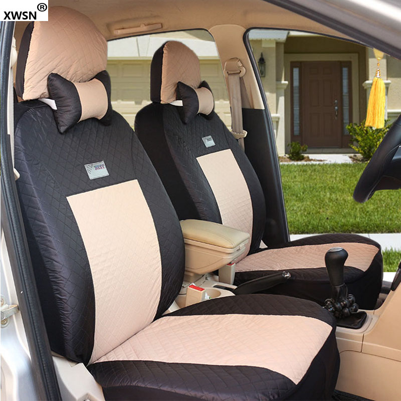 XWSN Universal car seat covers For KIA K2/3/4/5 Kia Cerato Sportage Optima Maxima carnival rio ceed accessories car styling 2 front leather car seat cover for kia k2k3k5 kia cerato sportage optima maxima carnival rio ceed car accessories styling