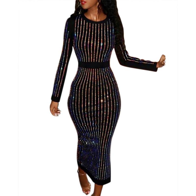 5a03a76fb34d0 women dresses 2018 sexy club wear bodycon dress crew neck jumer party  ladies elegant dress vestidos mujer womens clothing-in Dresses from Women's  ...