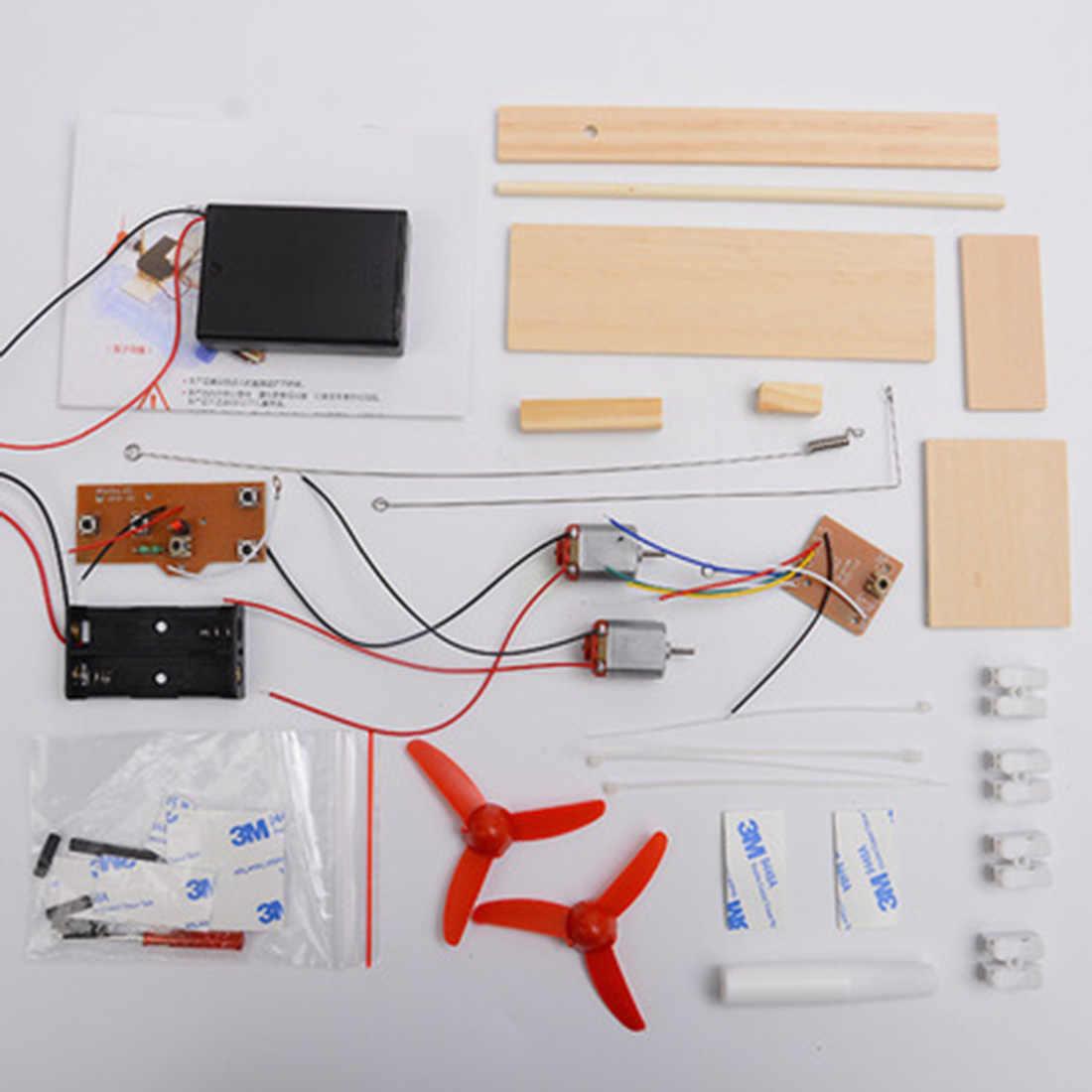 Surwish DIY RC Airborne Model Percobaan Sains Puzzle Perakitan Mainan untuk Anak Laki-laki Anak-anak DIY Ilmu Pendidikan Kit
