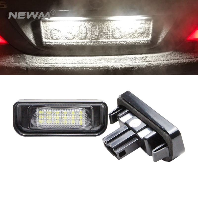 Car LED License Plate Lights For Mercedes W220 S-Class 99-05 Benz Accessories SMD3528 LED Number Plate Lamp Bulb Kit 12V 10pcs error free led lamp interior light kit for mercedes for mercedes benz m class w163 ml320 ml350 ml430 ml500 ml55 amg 98 05
