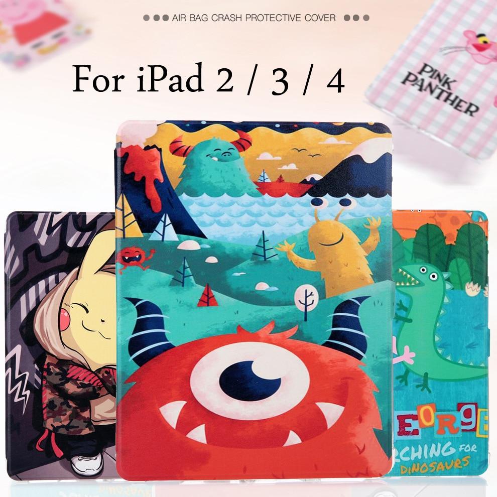 Fashion Painted Flip PU Leather Case For iPad 2 / iPad 3 / ipad 4 Tablet Case Cover For iPad2 / iPad3 / iPad4 + Stylus + Film цена