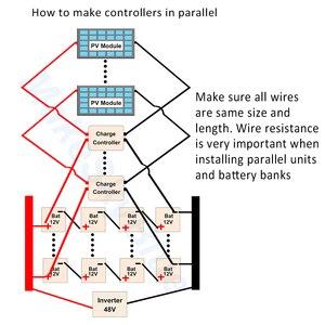 Image 5 - MakeSkyBlue MPPT ソーラー充電コントローラ 80A (2 個 40A でパラレル) のための 12V 24V 36V 48VDC ゲル AGM シール型鉛酸バッテリー V118