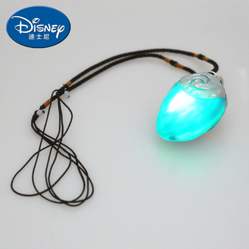Disney Action-Figure Necklace Pendant Lightkey-Ring Gift Movie Moana Princess Music No-Tooth