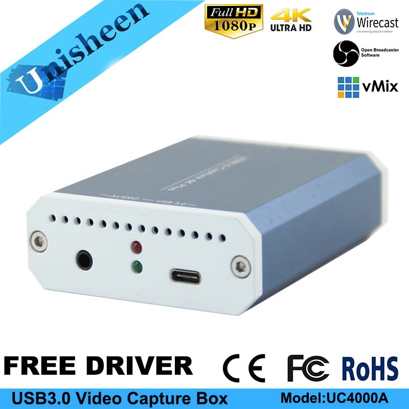 4K Capture Card UHD USB3 0 VIDEO CAPTURE Dongle Game Streaming Live Stream  Broadcast 2160P 1440P 1080P OBS/vMix/Wirecast/Xsplit
