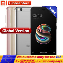 "Global Version Xiaomi Redmi 5A 16GB ROM 2GB RAM Snapdragon S425 Quad Core Mobile Phone MIUI9 3000mAh 5.0"" 1280*720 13.0MP 5.0MP(China)"