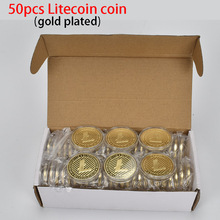 50PCS Hot Gold Plated Litecoin Coin Metal coin For Collection