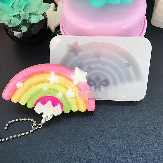 1pcs rainbow stars liquid silicone mold diy resin jewelry key ring 1pcs rainbow stars liquid silicone mold diy resin jewelry key ring pendant mold resin molds for aloadofball Choice Image