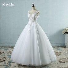 ZJ9076 2019 2020 nowy biały Ivory elegancka suknia balowa suknie ślubne koronki sweetheart z koronki krawędzi Plus rozmiar