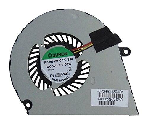 SSEA New Laptop CPU fan for For HP ENVY 4 ENVY 6 4-1000 6-1000 cooling Fan SPS 686580-001 DFS541105FC0T EF50060V1-C070-S9A hp fdu32gbhpv285w ef