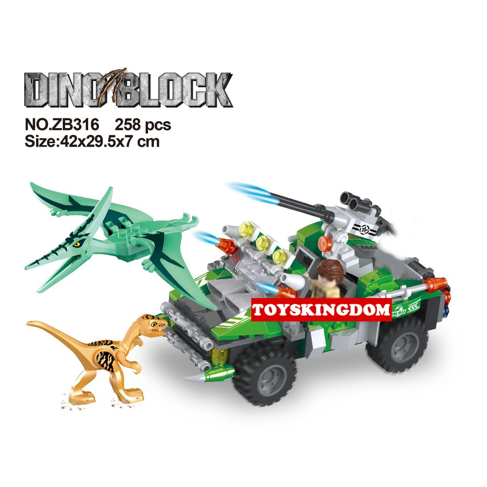 Hot Jurassic World Dinosaur Park Pterosaur jungle chase building block hunter figures Armored car bricks toys for kids gifts hot city series aviation private aircraft lepins building block crew passenger figures airplane cars bricks toys for kids gifts