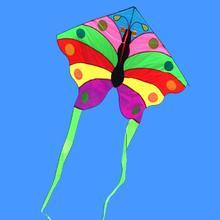 Высокого качества Радужный большая бабочка кайт линии нейлоновая ткань Рипстоп детские игрушки воздушный змей катушка взрослый; Дракон